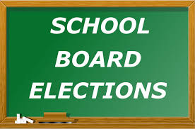 School board elections chalk board