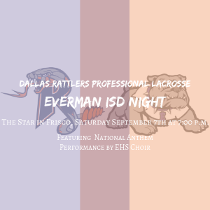 Dallas Rattlers Everman ISD Night