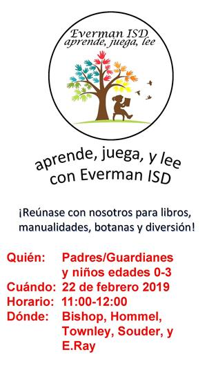 Learn, Play, & Read with EISD on February 22, 2019 in Spanish