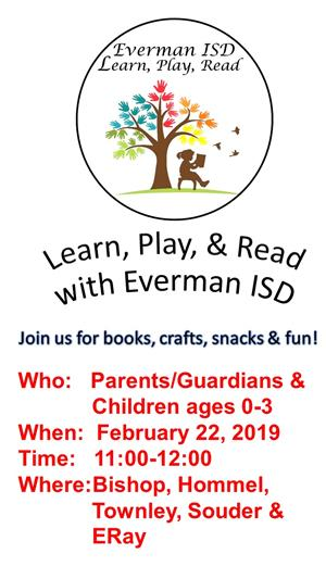 Learn, Play, & Read with EISD on February 22, 2019 in English