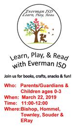 Learn,Play, & Read with EISD flyer