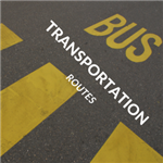 Bus transportation routes for the school district.