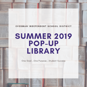 Pop-up summer reading library