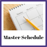 image of a sample master schedule