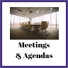 Meetings and agendas in the conference room
