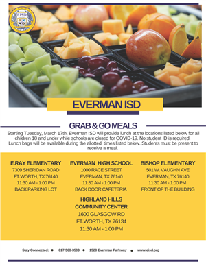 english grab and go flyer